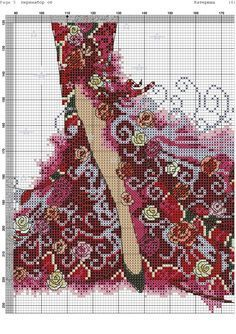 Elegant lady and birdcage extra page Cross Stitch Angels, Cross Stitch Flowers, Counted Cross Stitch Patterns, Cross Stitch Designs, Cross Stitch Embroidery, Graph Crochet, Stitch Doll, Christmas Embroidery Patterns, Christmas Cross