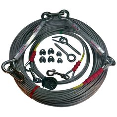 Freedom Pet Supply 250 Ft Aerial Dog Trolley Run Leash Harness Cable Overhead FDR-250 >>> Want to know more, click on the image.