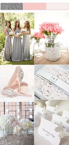 Shining Silver Wedding color ideas for Your Inspiration