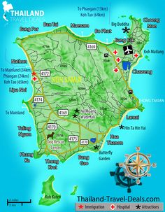 Koh Samui map - going here in 2016 for our son's wedding :)