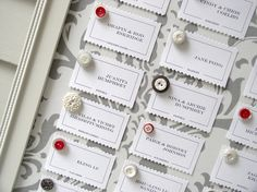 Such a cute wedding seating chart idea