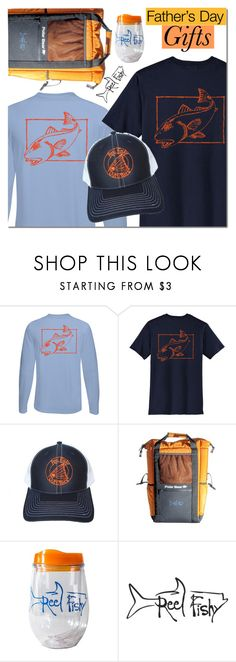 """Reel Fishy Apparel"" by mada-malureanu ❤ liked on Polyvore featuring men's fashion, menswear, hats, Tee, Fishing and reelfishyapparel"