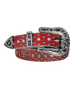 29dc5371291 Take a look at this Red San Francisco 49ers Bling Belt - Women on zulily  today