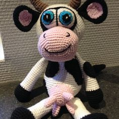 Lovely Cow made by Karin - based on Lovely Baby Gift pattern http://www.ravelry.com/patterns/library/cow-amigurumi-3
