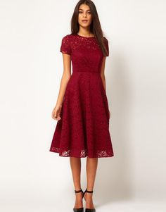 I love the cute, modest, cut of this dress, but I don't know if it would look good on me.