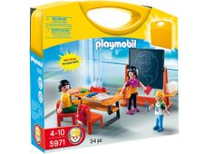 "Playmobil - School Carrying Case - Playmobil - Toys""R""Us Play Mobile, Playmobil Sets, Black Friday Specials, Toys R Us Canada, School Sets, Preschool Toys, School Classroom, Jouer, Building Toys"