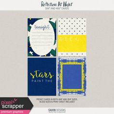 Reflectons At Night Pocket Cards