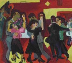 Ernst Ludwig Kirchner - Tangotee, 1921.