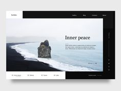 Inner Peace by Lina Liu Website Header Design, Website Layout, Web Layout, Layout Design, Website Ideas, Web Developer Portfolio Website, Portfolio Website Design, Website Design Inspiration, Web Design Projects