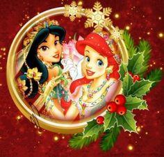 frases navidad con las princesas de disney