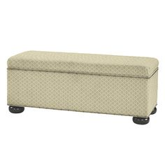 Amelia Storage Bench With Brass Nailheads