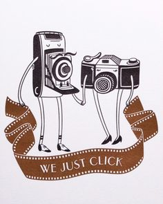 We just click | Illustration