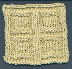 Squares In Squares Stitch.  Nice stitch for an afghan. squar stitch, knit stitch, stitch patterns