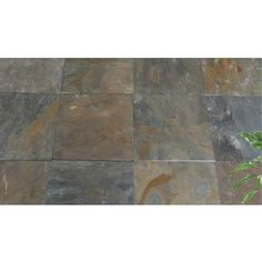 Right height for back patio  Lowes:  Natural Patio Stone (Common: 16-in x 16-in; Actual: 16-in H x 16-in L)