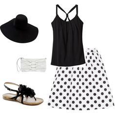 """Black 'n' White"" by gena97 on Polyvore.  Love!!"