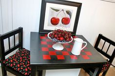 DIY Game Tables • Tutorials and ideas, including this DIY checkerboard table by 'Home Stories A to Z'!