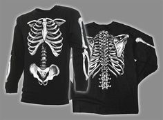 Hey, I found this really awesome Etsy listing at https://www.etsy.com/listing/150099829/skeleton-bones-long-sleeve-t-shirt-the