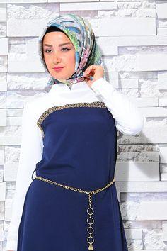 01 BNM LACİVERT TUNİK -1286-3 #modasena #tunik #tesettür #hijab