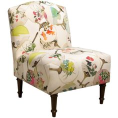 Alcott Hill Springdale Camel Back Slipper Chair Upholstery: Mia Multi, Nailhead Trim Detail: No Trim Chair Upholstery, Upholstered Furniture, Accent Furniture, Funky Furniture, Vintage Furniture, Furniture Ideas, Armless Chair, Joss And Main, Accent Chairs
