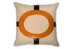 Cameron 22x22 Linen Pillow, Orange