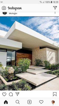 Architecture Design, Plans Architecture, Modern Architecture House, Modern House Design, Facade Design, Villa Design, Dream House Exterior, House Exterior Design, Exterior Paint