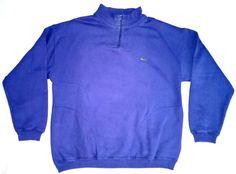 Vintage Lacoste 1/4 Zip Pullover Sweatshirt Men's Medium, Pre-Production Sample in 1990s (Grunge, Goth, Hip Hop) | eBay