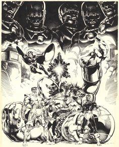 Michael Golden: X-Men Companion Book 1 Cover 1981