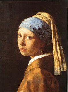 Retrato, J. Vermeer, Moça com brinco de pérola, 1665