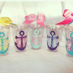 so cute! anchor cups. I so need