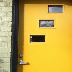 mid century modern front door   MCM front door in yellow   Mid-Century Modern