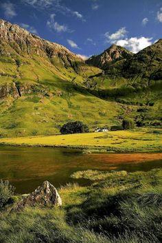 """coiour-my-world:  """"Loch Achtriochtan, Scotland"""""""