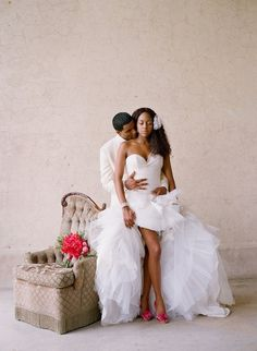 Wedding dress photos from online bridal magazine Munaluchi Bride - TheGrio Wedding Dresses Photos, Wedding Poses, Wedding Tips, Dream Wedding, Wedding Day, Budget Wedding, Wedding Images, Wedding Ceremony, Wedding Shot