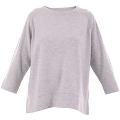 Hemisphere Cashmere Sweater (22,070 INR) ❤ liked on Polyvore featuring tops, sweaters, grey, gray cashmere sweater, round neck top, cashmere tops, grey top and cashmere sweater