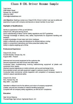 Driver Resume Cool Simple But Serious Mistake In Making Cdl Driver Resume Check