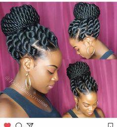 23 Eyecatching Twist Braids Hairstyles for Black Hair - Haare - Twist Braid Hairstyles, African Braids Hairstyles, My Hairstyle, Girl Hairstyles, Black Hairstyles, Hairstyles Pictures, Hairstyles 2016, Gorgeous Hairstyles, Shag Hairstyles