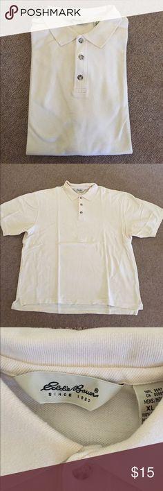 Eddie Bauer cream polo shirt Eddie Bauer men's cream polo shirt. Men's extra-large. 100% cotton. Perfect condition Eddie Bauer Shirts Polos