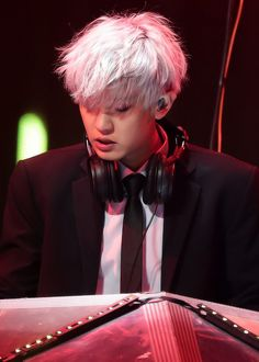 Silver haired dj