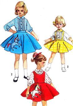 1950s Girls Skirt Pattern Simplicity 2287 Girls by paneenjerez, $16.00