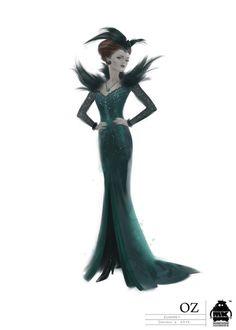 Oz the Great and Powerful_Evanora illustration_Image credit Disney Enterprises