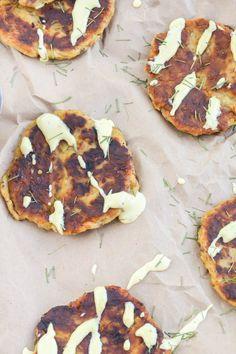 Leftover Mashed Potato Cakes with Garlic Lemon Aioli