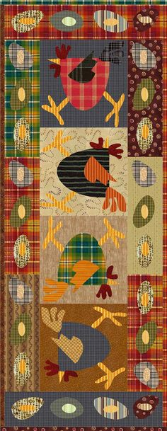 Chickens!  I LOVE Chickens!!!!  Scrambled Eggs Tablerunner Pattern by madcreekdesigns