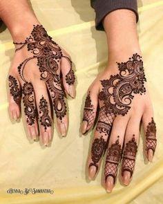 Henna design by Pretty Henna Designs, Finger Henna Designs, Modern Mehndi Designs, Mehndi Design Pictures, Unique Mehndi Designs, Mehndi Designs For Fingers, Dulhan Mehndi Designs, Latest Mehndi Designs, Henna Tattoo Designs