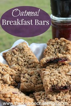 A healthy and easy breakfast idea - Oatmeal Breakfast Bars Recipe. Make a few extra for the family to save money on your breakfast budget.