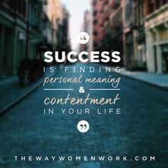 Define your OWN success.