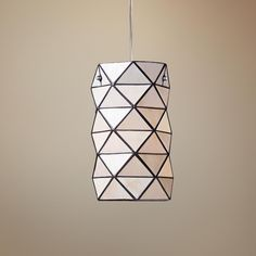 "Tetra Collection Tiffany Style 7"" Wide Pendant Chandelier 