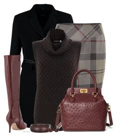 """""""Sleeveless Sweater"""" by madamedeveria ❤ liked on Polyvore featuring Taifun, Barbour, Mint Velvet, Gianvito Rossi and Brooks Brothers"""