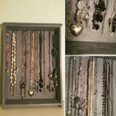 My jewelry storage with beautiful crackles 🎨👏❤ Jewelry Storage, Frame, Beautiful, Home Decor, Creative, Picture Frame, Jewel Box, Decoration Home, Room Decor