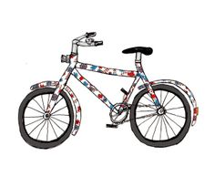 My Bicycle- Print by Sparkle Hen on Folksy, £7.50