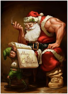 Swoll Santa wants protein bars instead of cookies