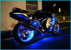 36 Blue LED Body Lights Kit Ninja 250R 500R 650R | eBay